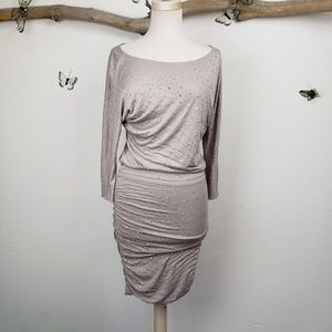International concepts taupe dress stretchy dress